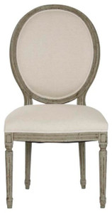 Medallion Side Chair in Distressed Olive