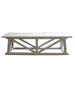Sutton Bench in White Washed