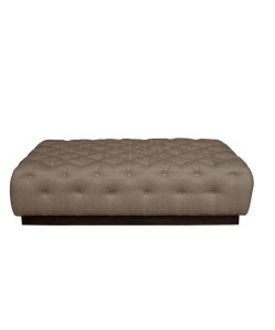 Ostia Cocktail Ottoman, Glynn Linen Earth