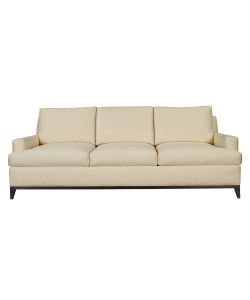 9th Street Sofa, Dark Walnut & Oatmeal