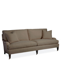 Eva Two-Seater Sofa, Glynn Linen Earth
