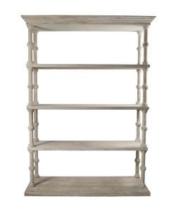 Roman Bookcase with a Medium Antique Painted Finish