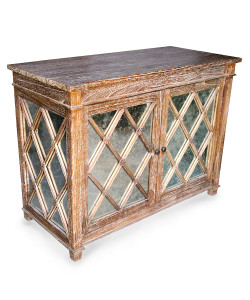 Antique Glass Chest, Grey Wash