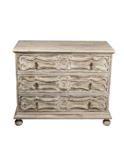 Daria 3-Drawer Dresser, Medium Antique Painted Finish