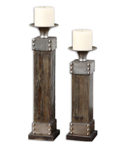 Lican Candleholders, Set of 2
