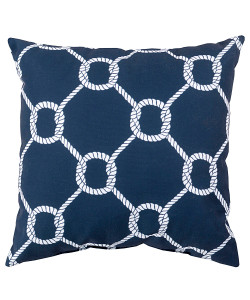 Twisting Knot Print on Navy Pillow
