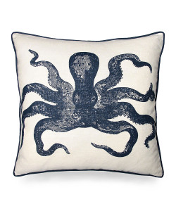 Octopus Pillow - Indigo