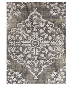 Heritage Charcoal Hand Knotted Rug