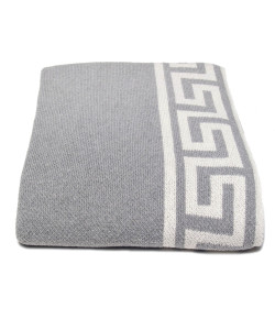 Greek Key Border Throw, Aluminum