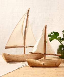 Driftwood Sailboats, Set of 2