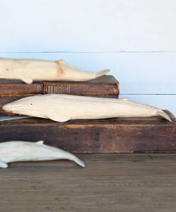 Carved Wood Whale, Blue Whale