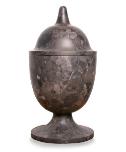 Black Marble Vessel, Tall