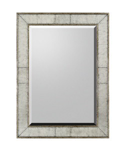 Silver Frame Bevel Mirror Surrounded By Eglom