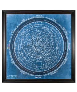 Planisphere Art, Framed