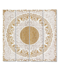 White Mandala Wall Décor, Set of 4