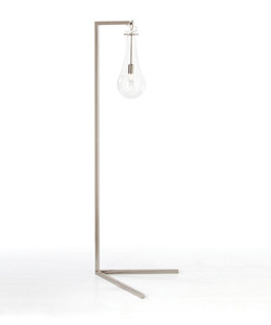Sabine Iron/Glass Floor Lamp