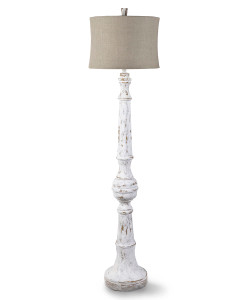 Spool Floor Lamp, Whitewashed