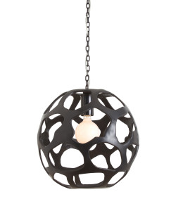 Ennis Large Black Oxidized Iron Pendant