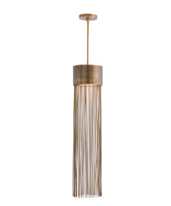 Berti 2Light Solid Brass/Glass Pendant