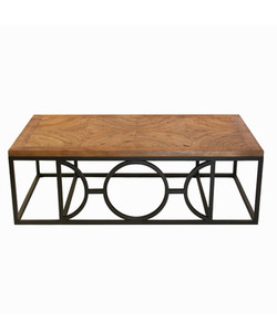 Circle Parquet Coffee Table