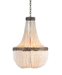 Hedy Chandelier, Cream/Pyrite