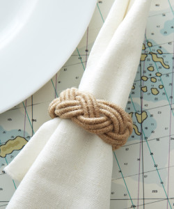 """Roped In"" Nautical Rope Napkin Ring"