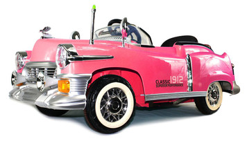Classic 1912 Ride-On Car (Pink)