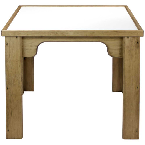 Activity-Table-for-Toddlers Pine with Melamine top-(front-view)