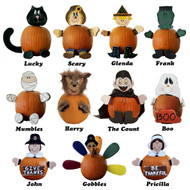 Halloween and Thanksgiving themed Wooden-No-Carve-Pumpkin-Decorating-Kits