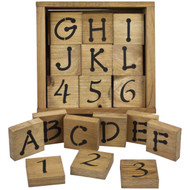 Toddler alphabet and number blocks