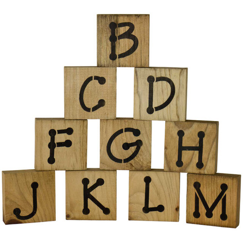 Extra Consonants Pack 1 for Toddler Learning Blocks Set