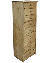 9 Drawer Pine Chest of Drawers  (Angled-View)