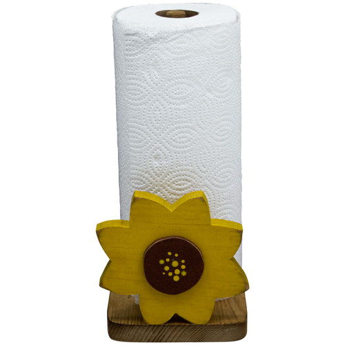 (large-sunflower-design) free-standing-paper-towel-dispenser-