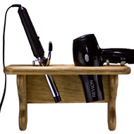 (front-view-with-dryer-and-iron) Curling-Iron-and-Hair-Dryer-Holder-for-Wall