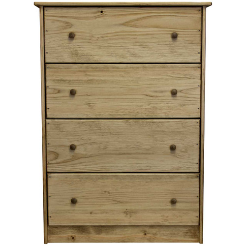 (front-view) Unfinished-Pine-Chest-of-Drawers
