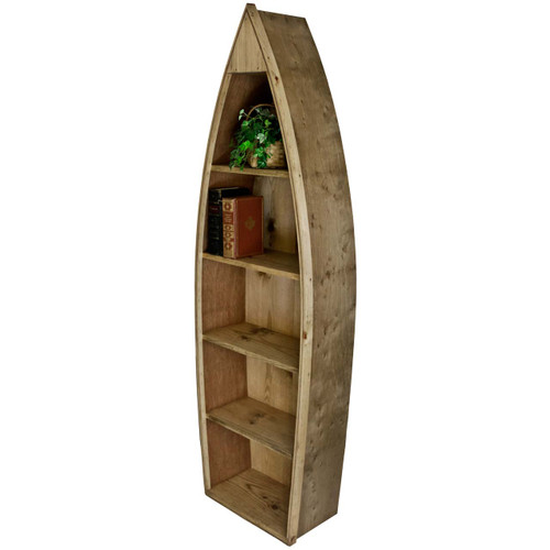 (angled view) Wooden-Boat-Bookcase