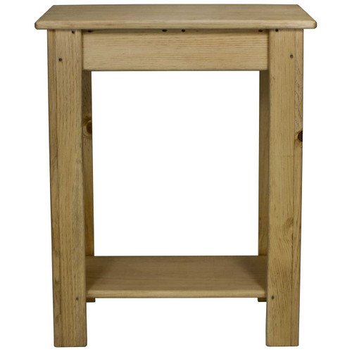 (front view) 24 inch Skinny-Sofa-Table