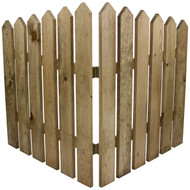(front view) decorative-picket-fence-panels-for-gardens