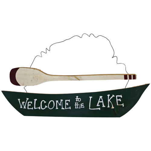 Welcome-to-the-Lake-House-Sign-(canoe-and-oar)