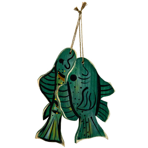 Wood-Fish-Ornaments-Set-(group)