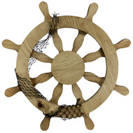 (front view) Wooden-Ship-Wheel-Wall-Decor