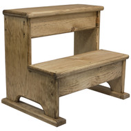 angled view solid wood step stool
