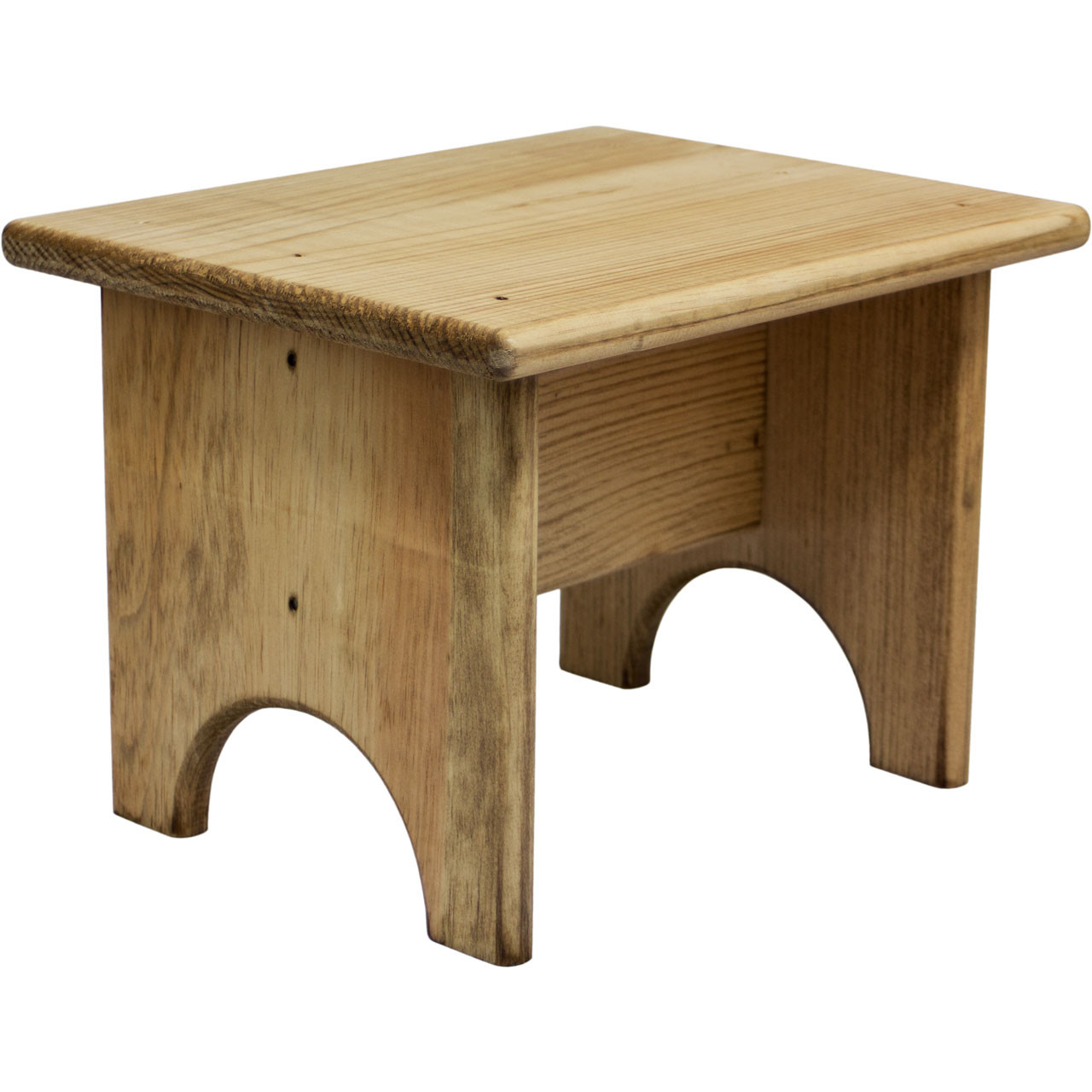 Small Wooden Footstool Unfinished Wood Footstool Dnlwoodworks Com