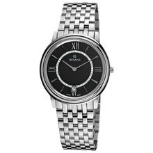 Grovana Men's 1708.1137 Black Dial Stainless Steel Watch