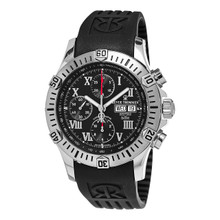 Revue Thommen Men's 16071.6837 'Air Speed' Black Chronograph Automatic Watch