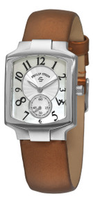 Philip Stein Women's 'Signature Classic Tank' Bronze Strap Watch