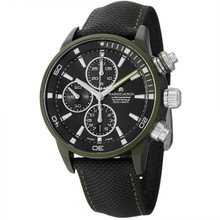 Maurice Lacriox Men's PT6028-ALB21-331 PontosExtreme Black Dial Nato Strap Watch