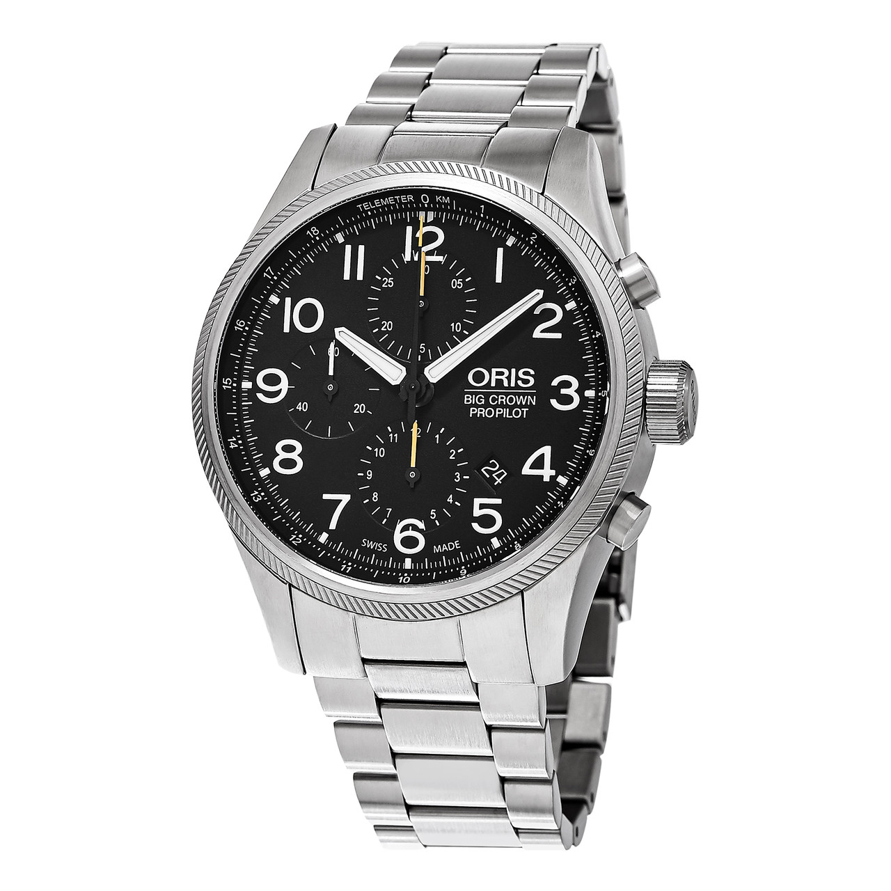 6c1aaee04 ... Oris Men's 774 7699 4134 MB 'Big Crown' Stainless Steel Chronograph  Watch. Image 1. Loading zoom