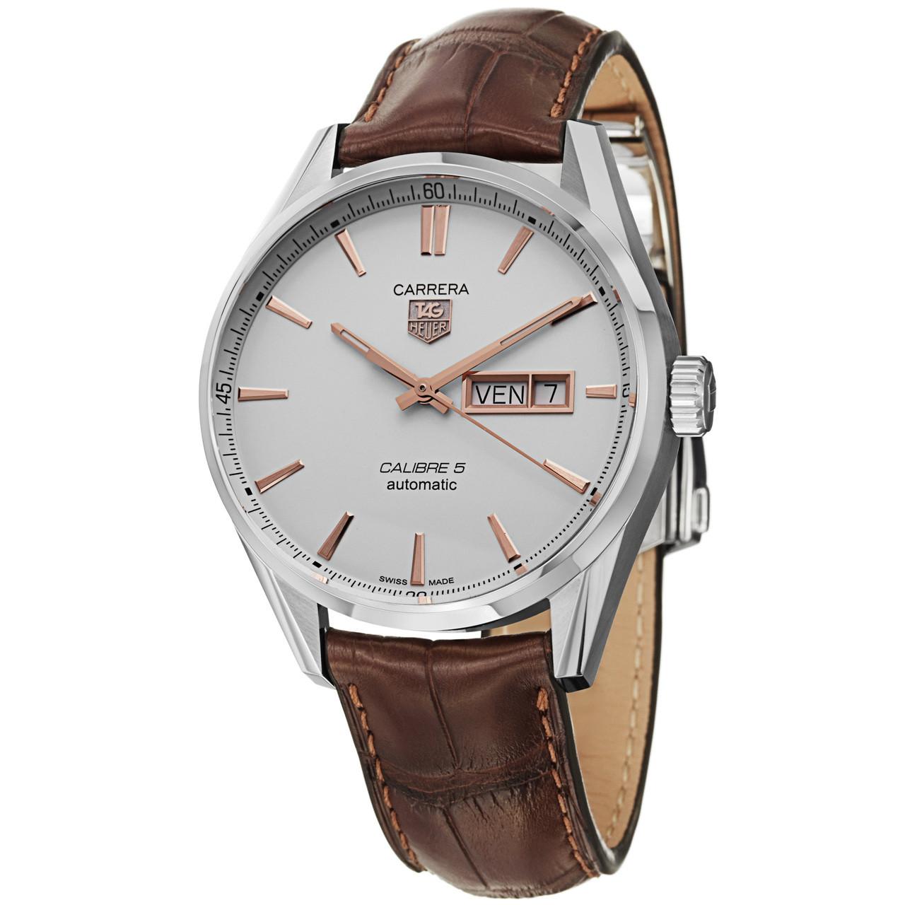 online retailer 5c243 e86ae Tag Heuer Men's WAR201D.FC6291 Carrera Silver Dial Day Date Watch