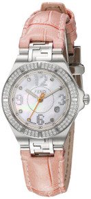 Fendi Womens High Speed Mother of Pearl Diamond Dial Quartz Watch F414247DDC
